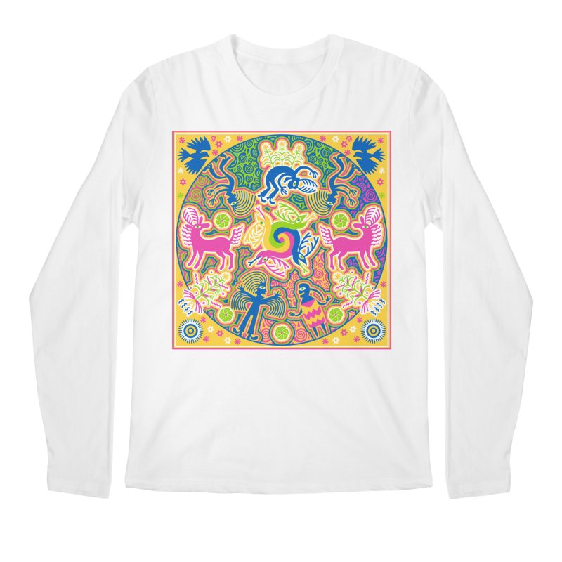 Creation of Peyote & Corn Men's Regular Longsleeve T-Shirt by Grasshopper Hill's Artist Shop