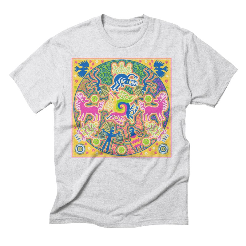 Creation of Peyote & Corn Men's Triblend T-Shirt by Grasshopper Hill's Artist Shop