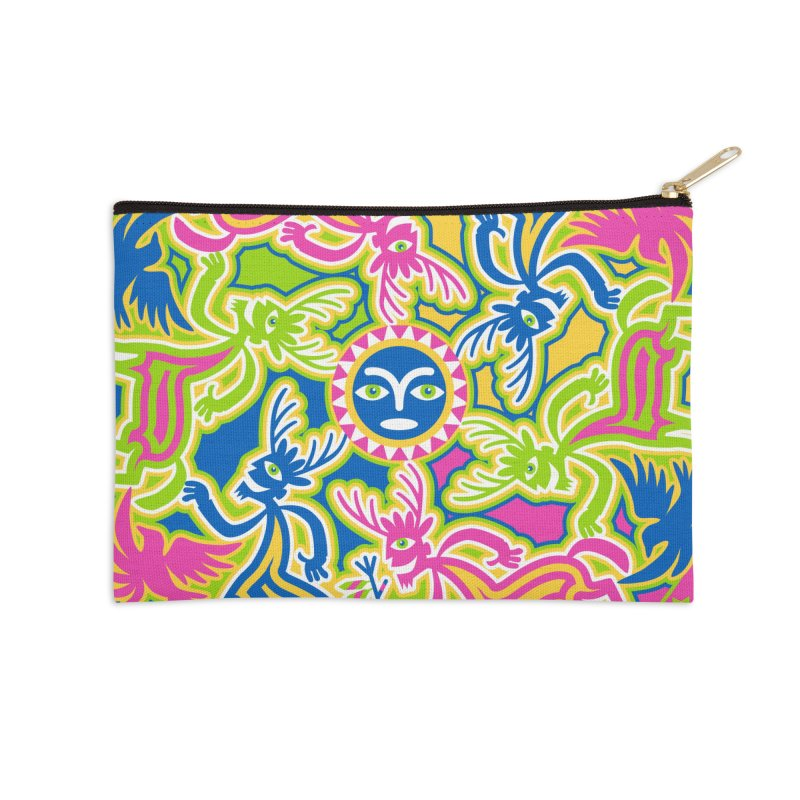 Spirit Guides Accessories Zip Pouch by Grasshopper Hill's Artist Shop