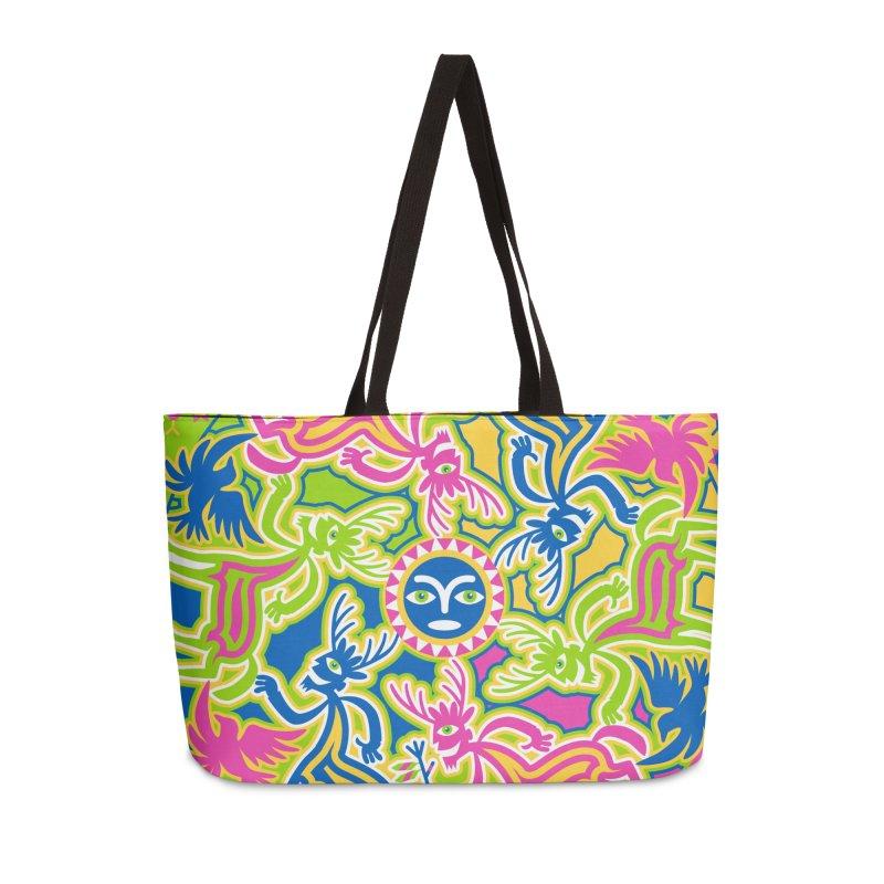 Spirit Guides Accessories Weekender Bag Bag by Grasshopper Hill's Artist Shop