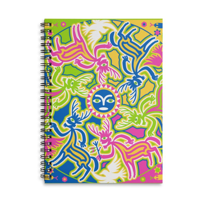 Spirit Guides Accessories Lined Spiral Notebook by Grasshopper Hill's Artist Shop