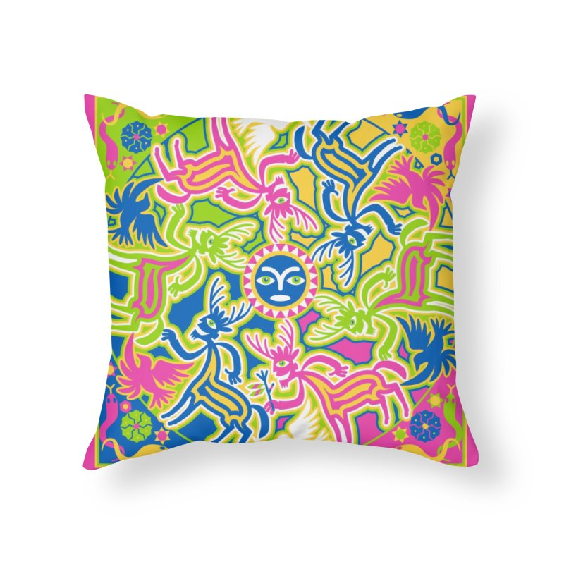 Spirit Guides Home Throw Pillow by Grasshopper Hill's Artist Shop