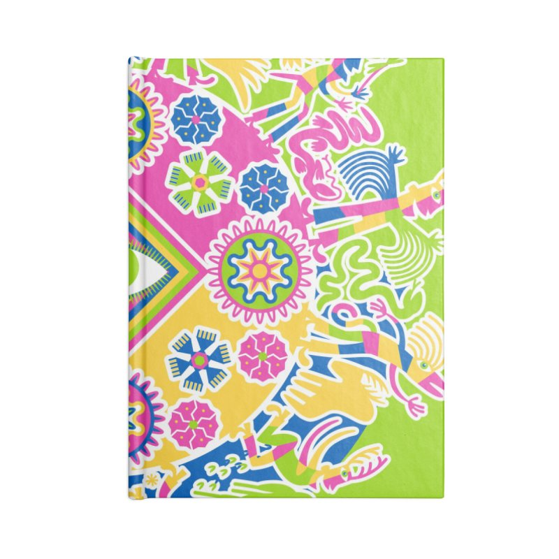 Vision Quest - green Accessories Lined Journal Notebook by Grasshopper Hill's Artist Shop