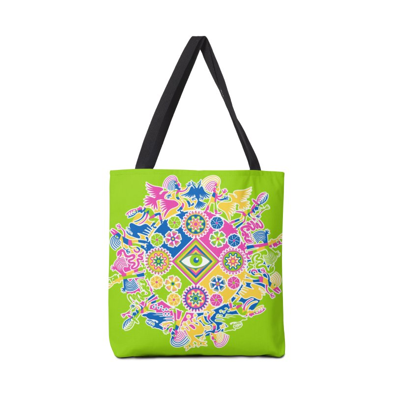 Vision Quest - green Accessories Tote Bag Bag by Grasshopper Hill's Artist Shop
