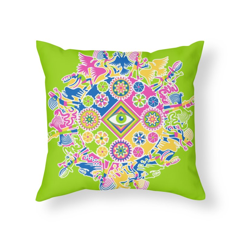 Vision Quest - green Home Throw Pillow by Grasshopper Hill's Artist Shop