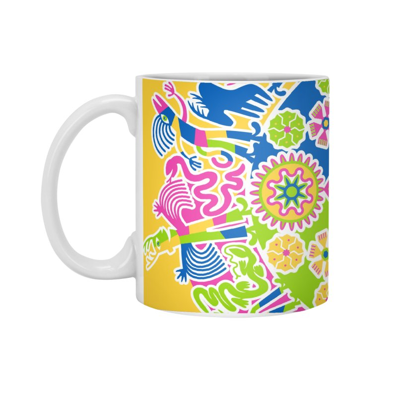 Vision Quest - yellow Accessories Standard Mug by Grasshopper Hill's Artist Shop