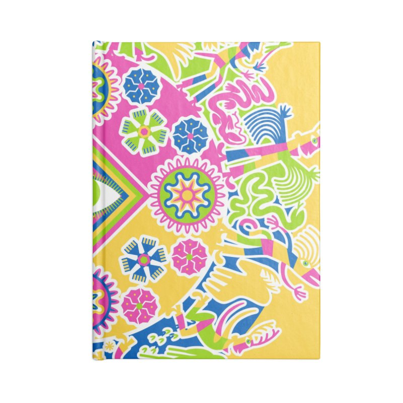 Vision Quest - yellow Accessories Blank Journal Notebook by Grasshopper Hill's Artist Shop
