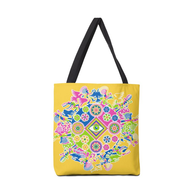 Vision Quest - yellow Accessories Tote Bag Bag by Grasshopper Hill's Artist Shop