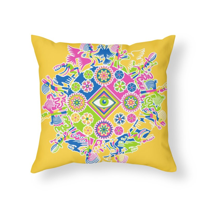 Vision Quest - yellow Home Throw Pillow by Grasshopper Hill's Artist Shop