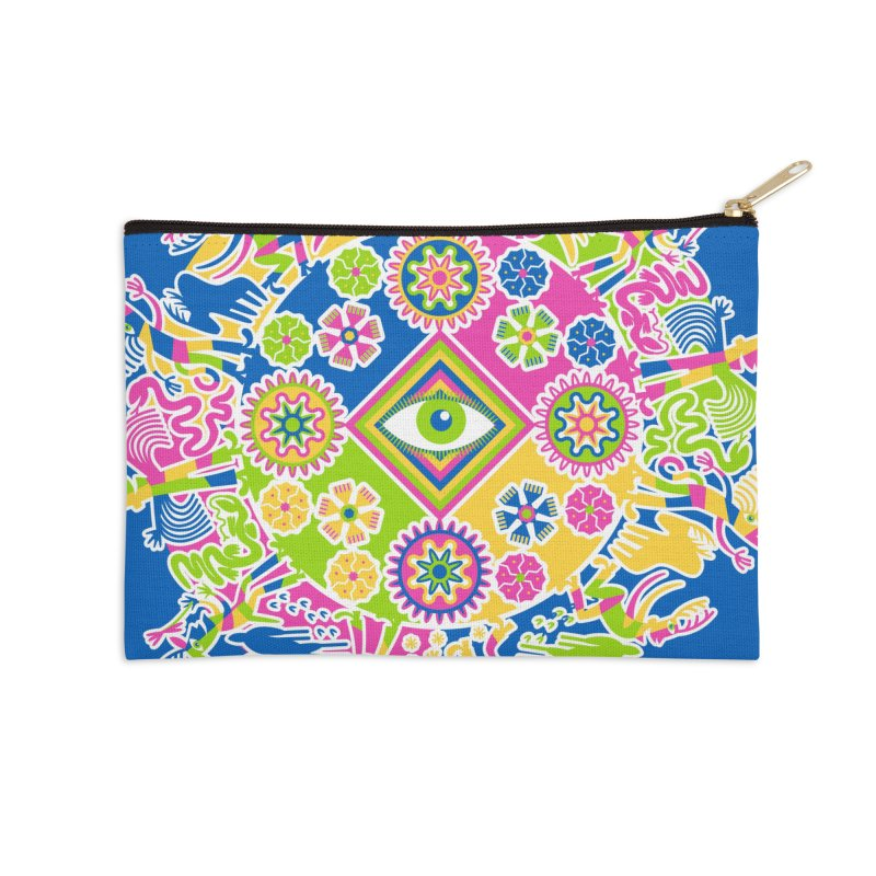 Vision Quest - blue Accessories Zip Pouch by Grasshopper Hill's Artist Shop