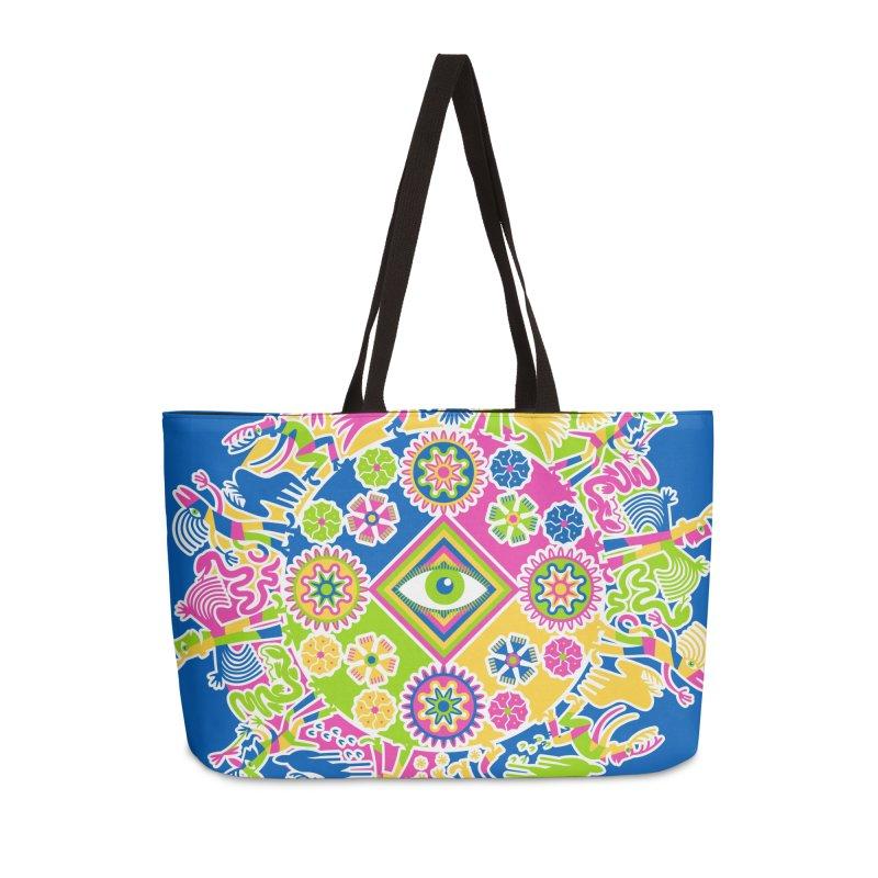 Vision Quest - blue Accessories Weekender Bag Bag by Grasshopper Hill's Artist Shop