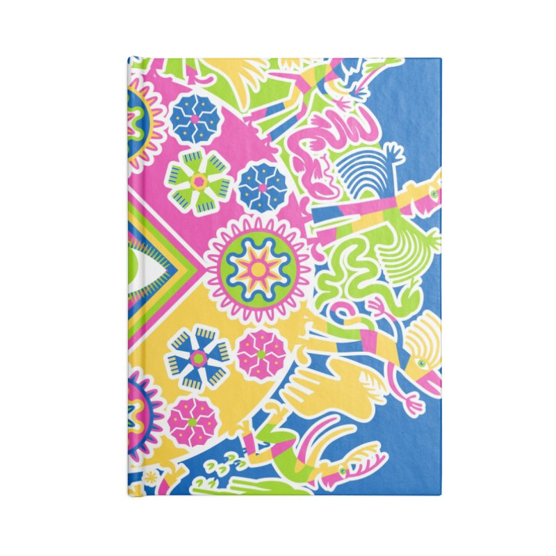 Vision Quest - blue Accessories Lined Journal Notebook by Grasshopper Hill's Artist Shop