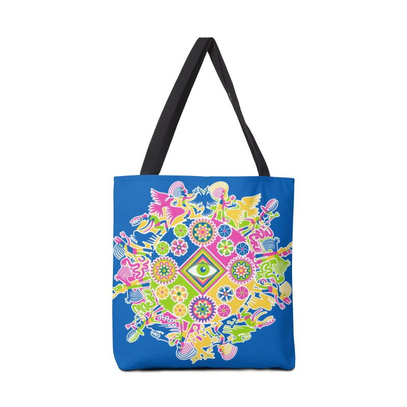 Vision Quest - blue Accessories Tote Bag Bag by Grasshopper Hill's Artist Shop