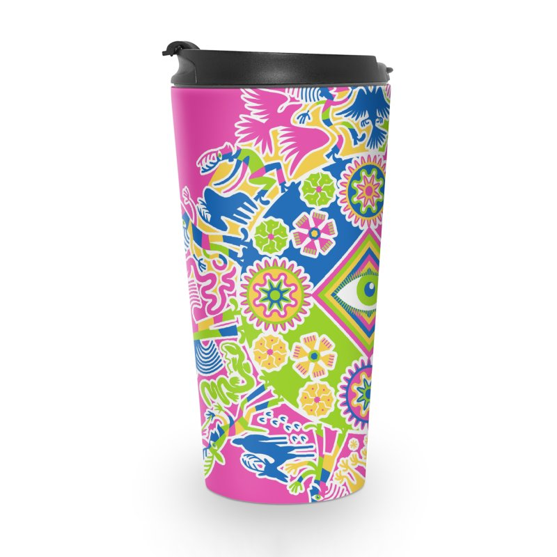 Vision Quest - pink Accessories Travel Mug by Grasshopper Hill's Artist Shop