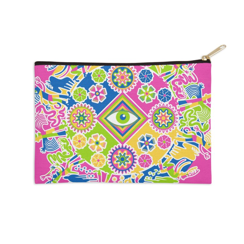 Vision Quest - pink Accessories Zip Pouch by Grasshopper Hill's Artist Shop