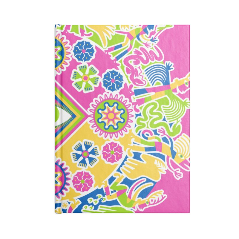 Vision Quest - pink Accessories Blank Journal Notebook by Grasshopper Hill's Artist Shop