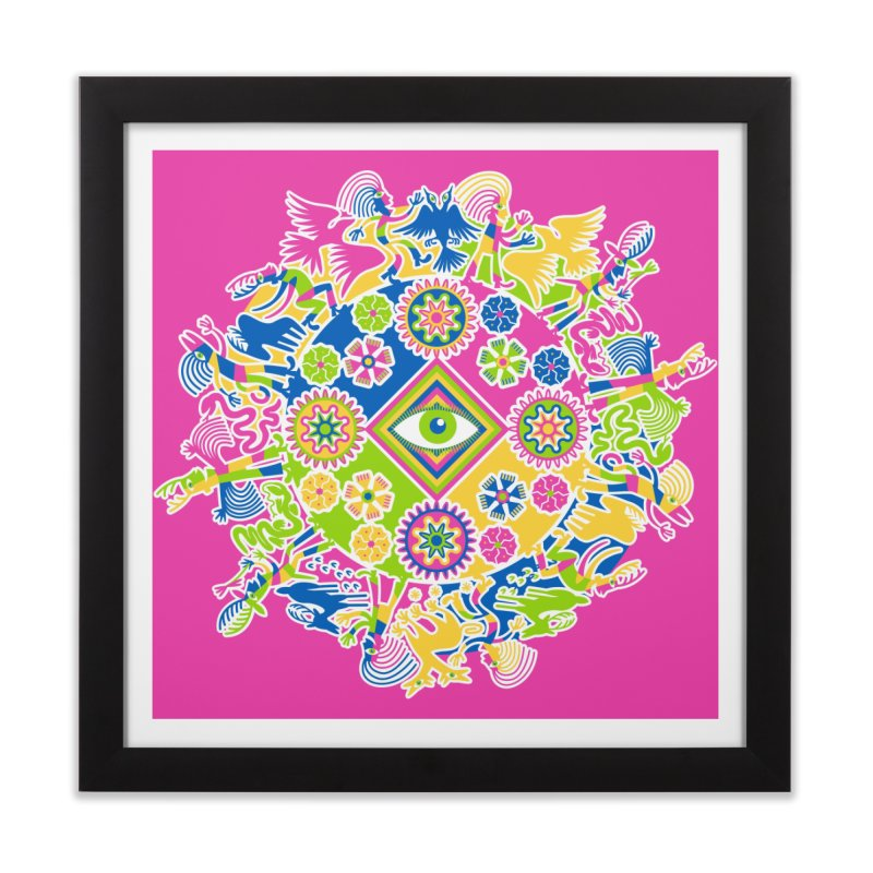 Vision Quest - pink Home Framed Fine Art Print by Grasshopper Hill's Artist Shop