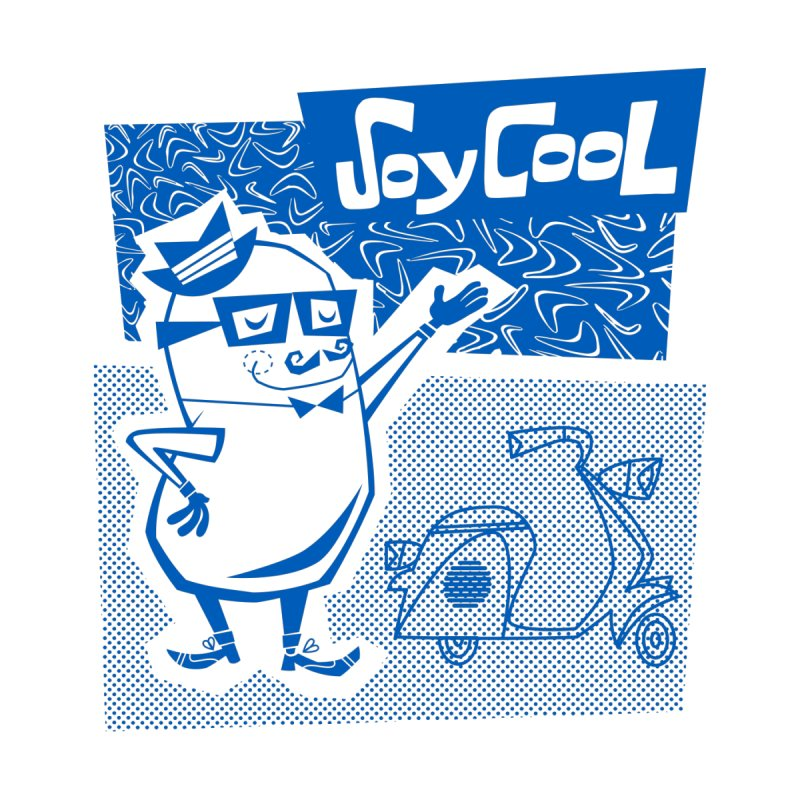 Soy Cool - blue Men's T-Shirt by Grasshopper Hill's Artist Shop