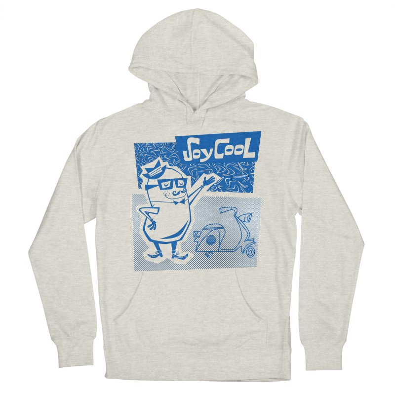 Soy Cool - blue Men's French Terry Pullover Hoody by Grasshopper Hill's Artist Shop