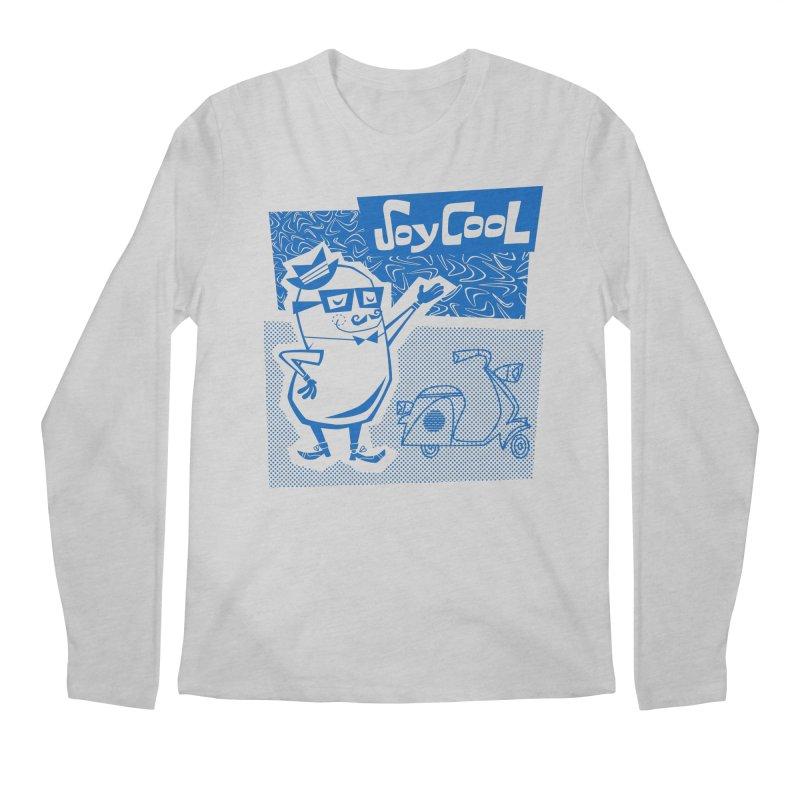 Soy Cool - blue Men's Regular Longsleeve T-Shirt by Grasshopper Hill's Artist Shop
