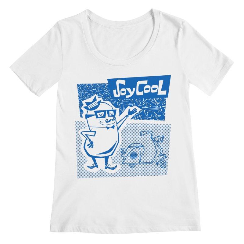 Soy Cool - blue Women's Regular Scoop Neck by Grasshopper Hill's Artist Shop