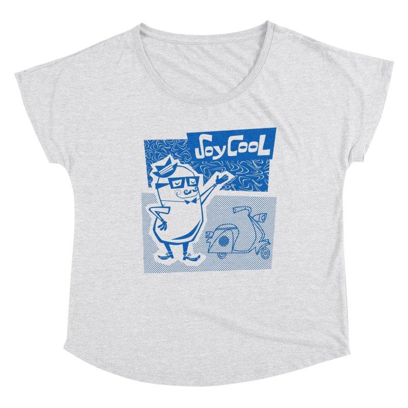 Soy Cool - blue Women's Dolman Scoop Neck by Grasshopper Hill's Artist Shop