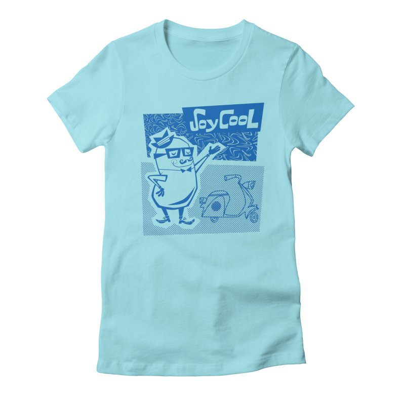 Soy Cool - blue Women's T-Shirt by Grasshopper Hill's Artist Shop