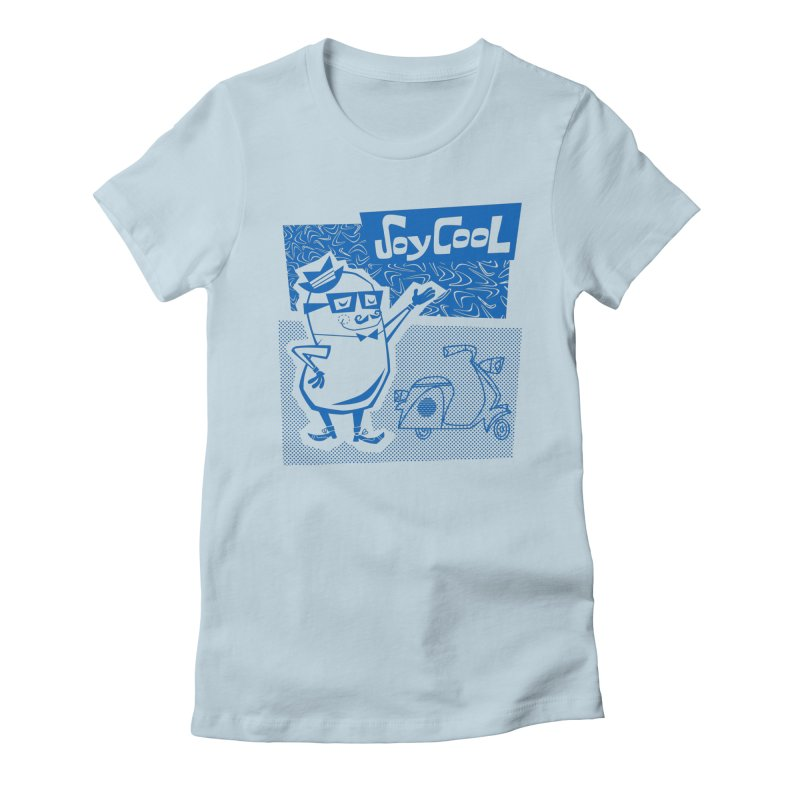 Soy Cool - blue Women's Fitted T-Shirt by Grasshopper Hill's Artist Shop