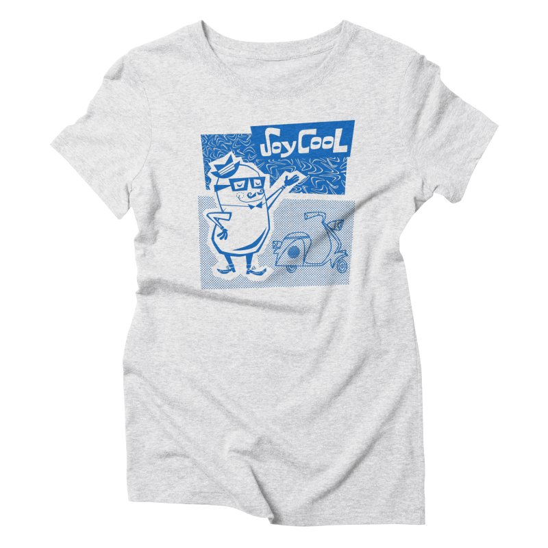 Soy Cool - blue Women's Triblend T-Shirt by Grasshopper Hill's Artist Shop
