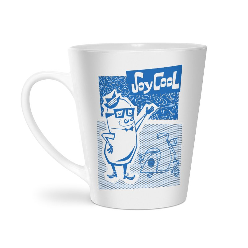 Soy Cool - blue Accessories Latte Mug by Grasshopper Hill's Artist Shop