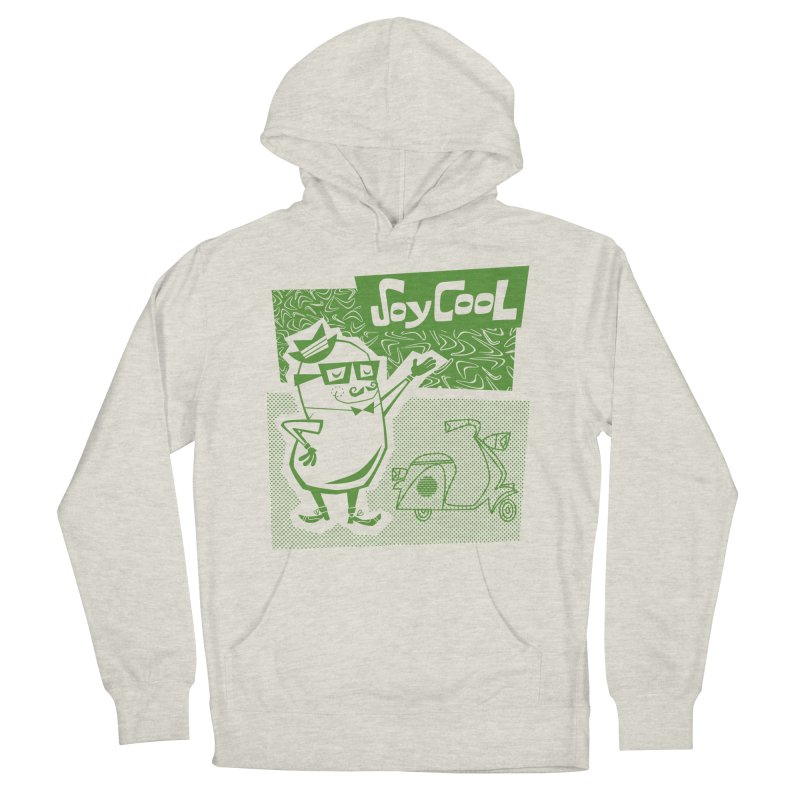 Soy Cool - green Men's French Terry Pullover Hoody by Grasshopper Hill's Artist Shop