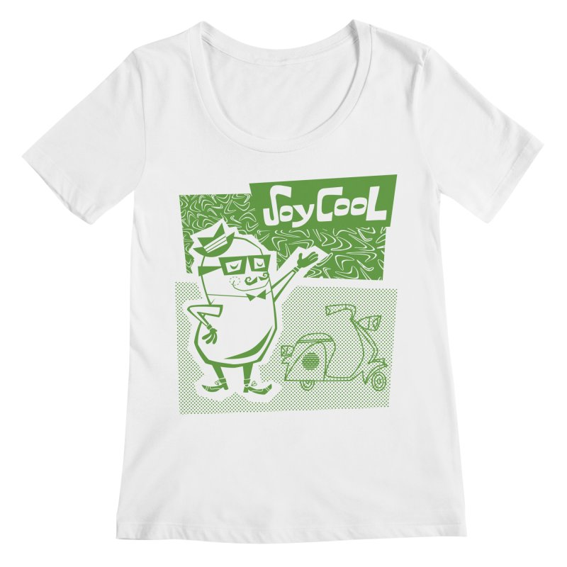 Soy Cool - green Women's Regular Scoop Neck by Grasshopper Hill's Artist Shop