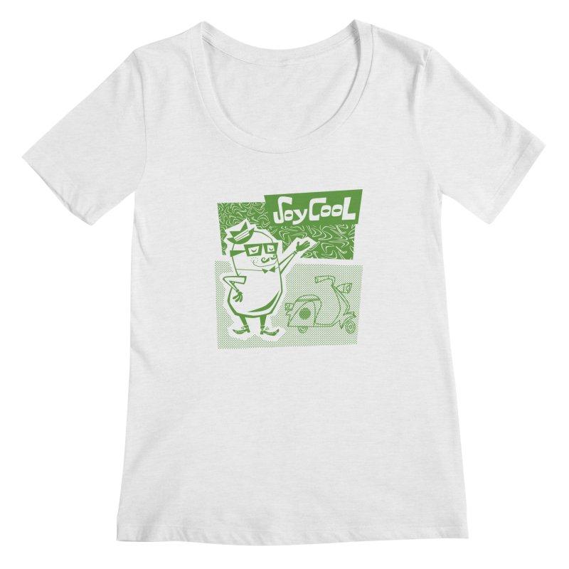 Soy Cool - green Women's Regular Scoop Neck by Grasshopper Hill's Artist Shop