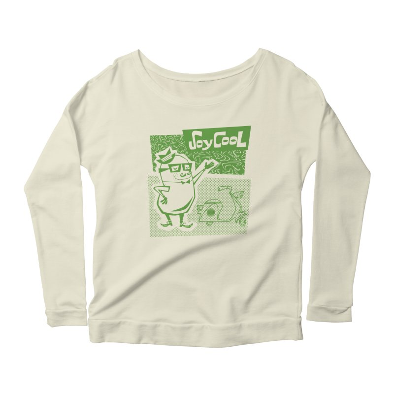 Soy Cool - green Women's Scoop Neck Longsleeve T-Shirt by Grasshopper Hill's Artist Shop