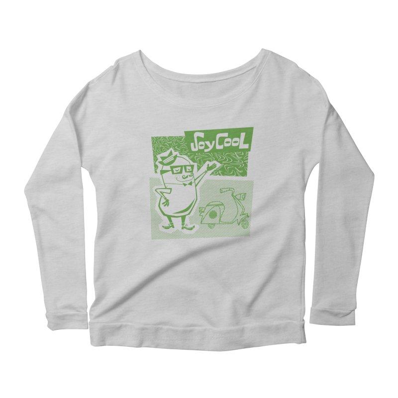 Soy Cool - green Women's Longsleeve Scoopneck  by Grasshopper Hill's Artist Shop