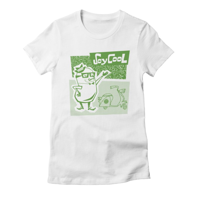 Soy Cool - green Women's Fitted T-Shirt by Grasshopper Hill's Artist Shop