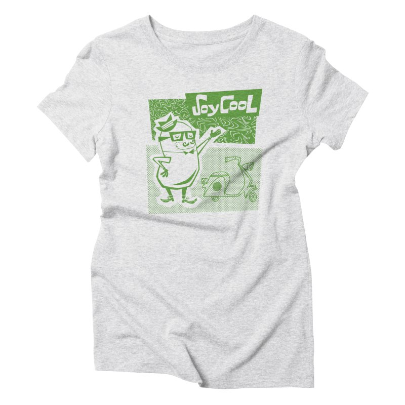 Soy Cool - green Women's Triblend T-Shirt by Grasshopper Hill's Artist Shop