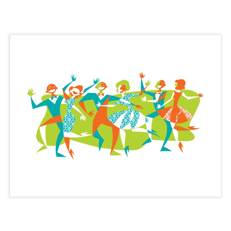 Dance Party Home Fine Art Print by Grasshopper Hill's Artist Shop