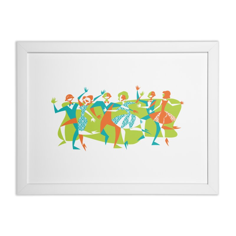 Dance Party Home Framed Fine Art Print by Grasshopper Hill's Artist Shop