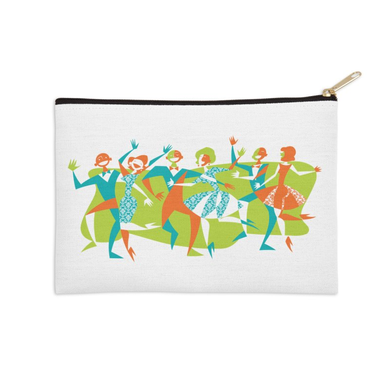Dance Party Accessories Zip Pouch by Grasshopper Hill's Artist Shop