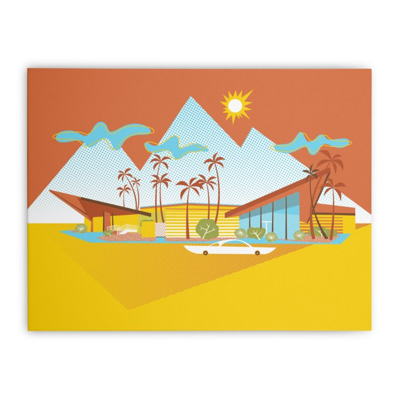 300 Bowl Home Stretched Canvas by Grasshopper Hill's Artist Shop