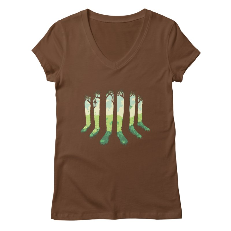 Can't See the Forest but for the Socks Women's V-Neck by grayehound
