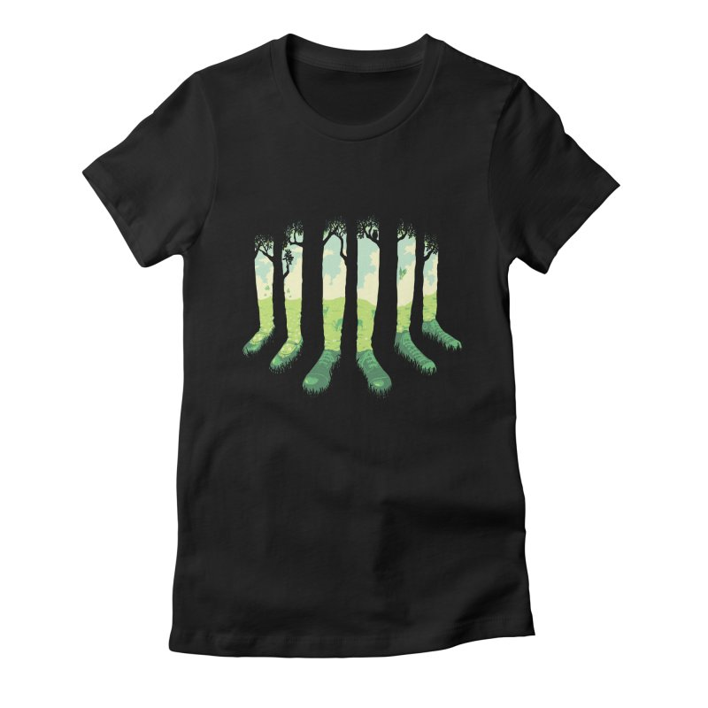 Can't See the Forest but for the Socks Women's Fitted T-Shirt by grayehound