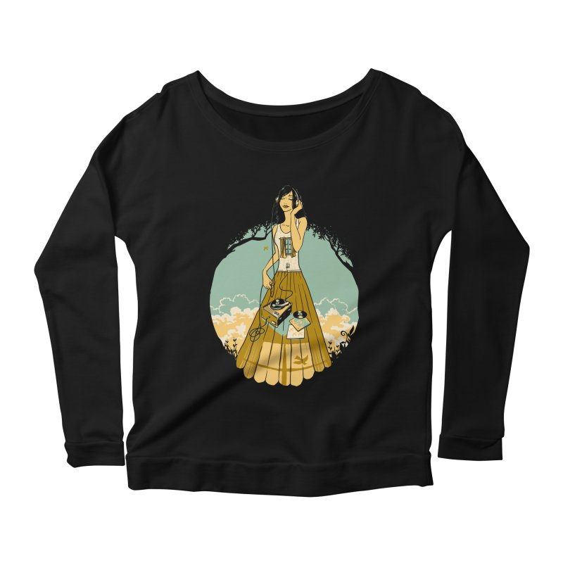 A Room with a View Women's Scoop Neck Longsleeve T-Shirt by grayehound