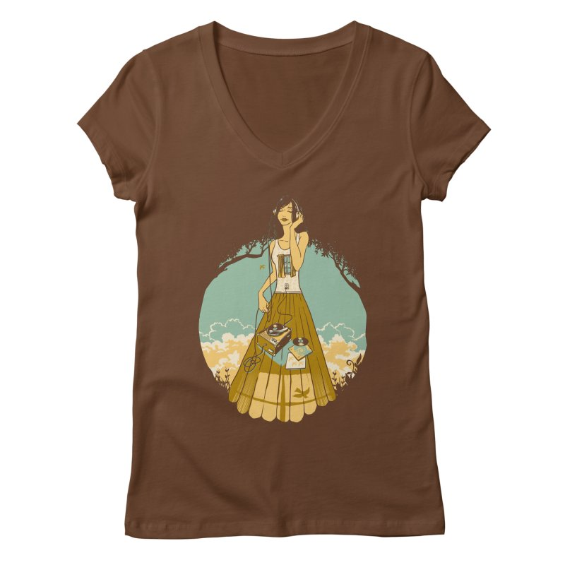 A Room with a View Women's Regular V-Neck by grayehound