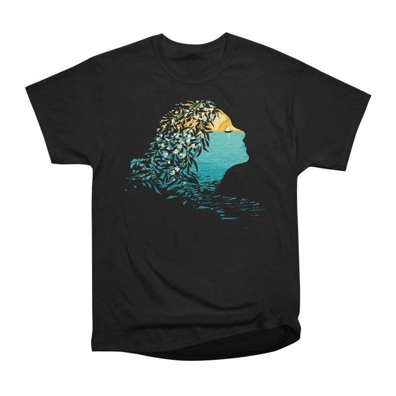 An Island Unto Herself Men's Heavyweight T-Shirt by grayehound