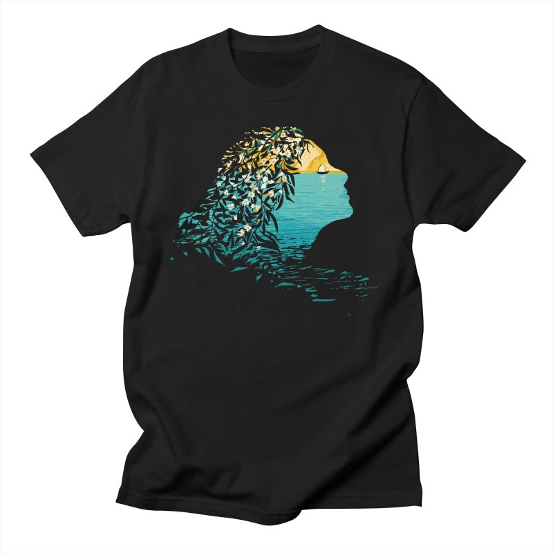 An Island Unto Herself Men's Regular T-Shirt by grayehound
