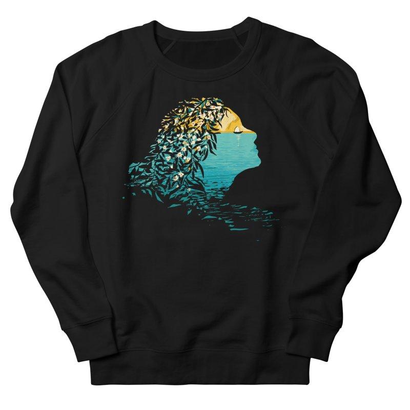 An Island Unto Herself Men's French Terry Sweatshirt by grayehound