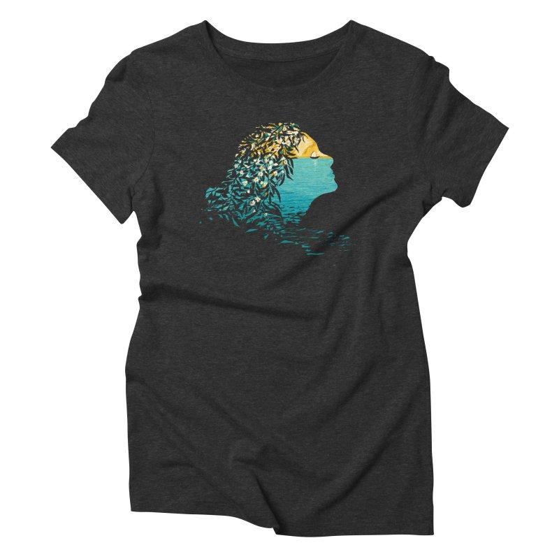 An Island Unto Herself Women's Triblend T-Shirt by grayehound