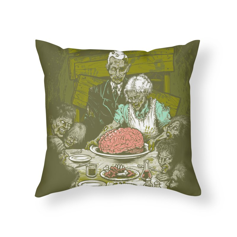 Freedom from Want...of BRAINS Home Throw Pillow by grayehound
